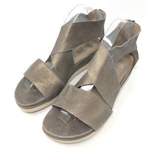 Eileen Fisher Sport Criss Cross Platinum Sandals